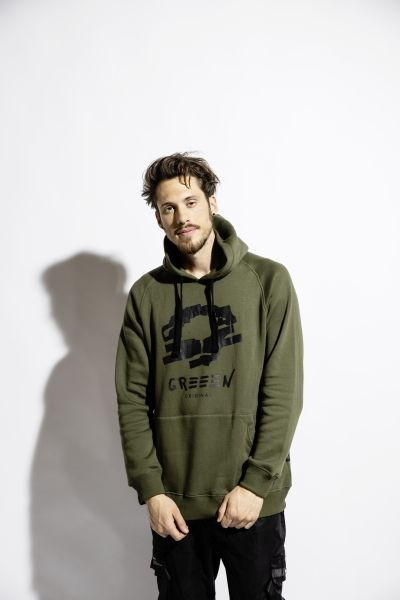 Greeen black tree Hoody olive